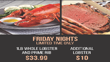 Prime Rib and Lobster Buffet Special