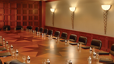 board room set up